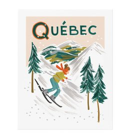 Rifle paper co. Affiche 8x10 - Québec Bon voyage