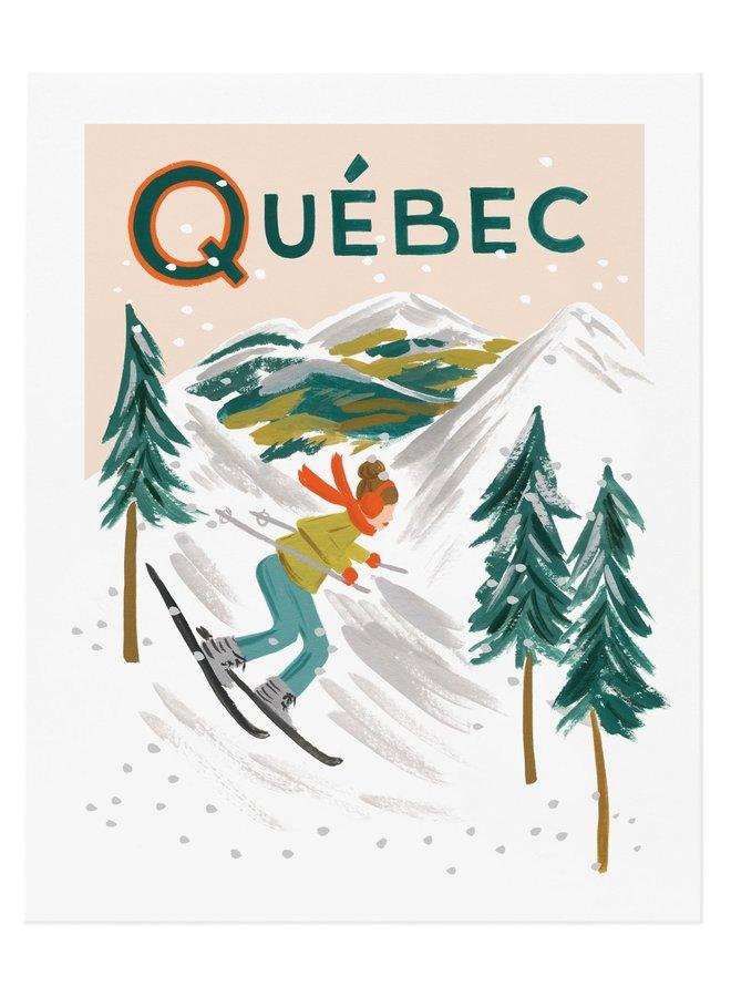 Affiche 8x10 - Québec Bon voyage