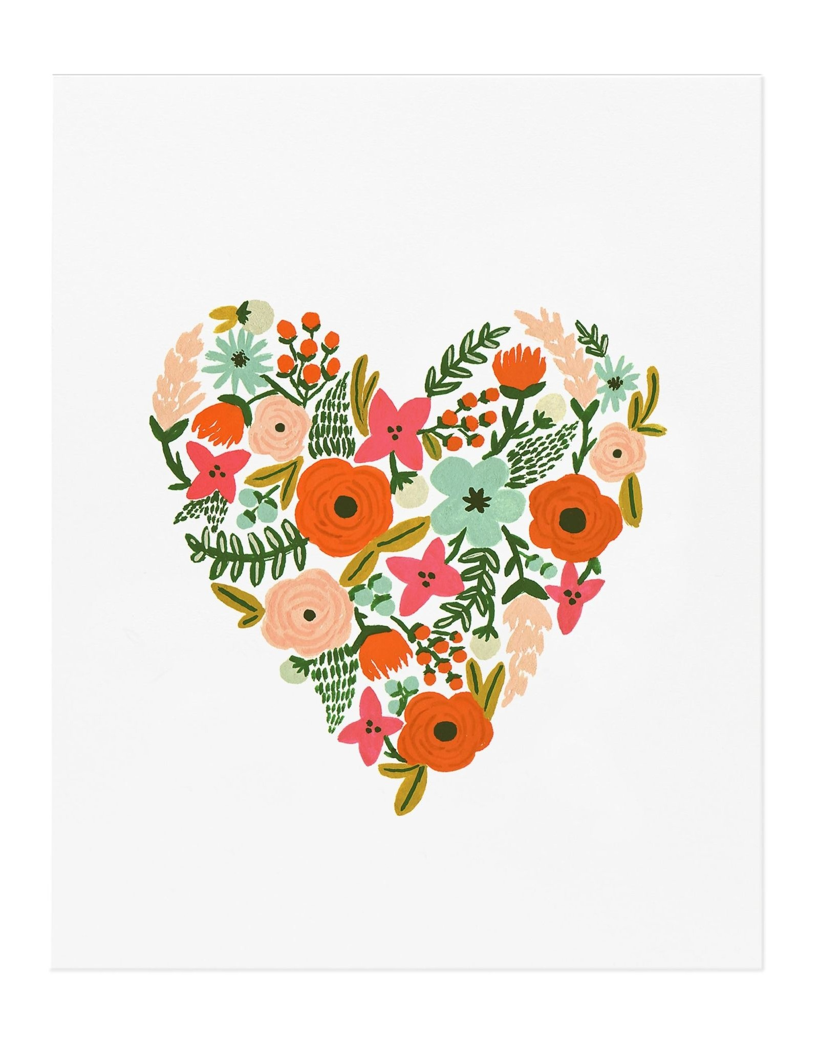 Rifle paper co. Affiche 8x10 - Floral heart