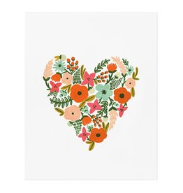Rifle paper co. Affiche 8x10 - Floral heart