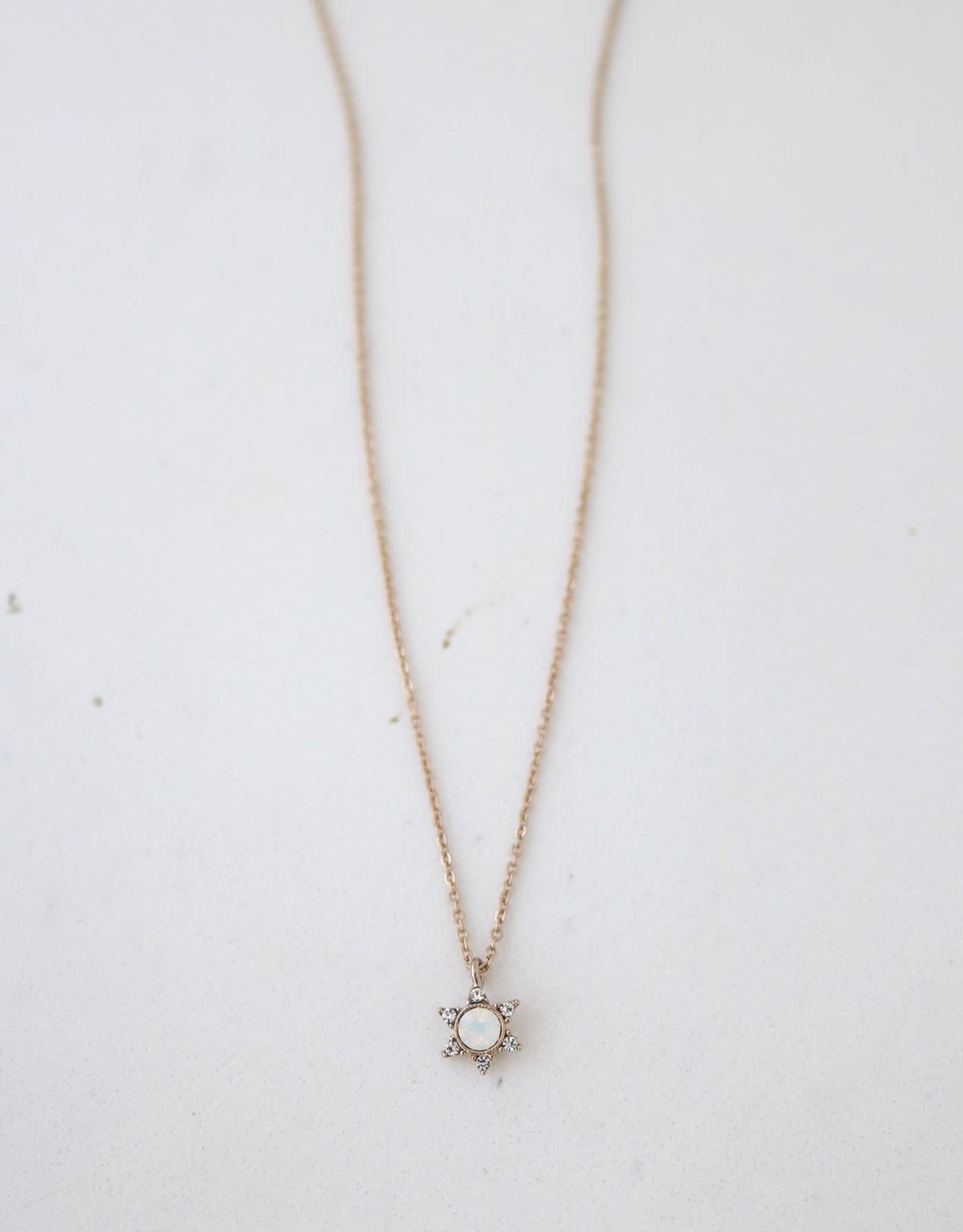 Lover's tempo Collier STARLIT - White opal