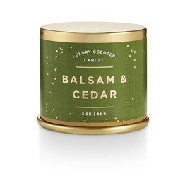 Bougie métal - Balsam & cedar - Petite