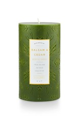 Bougie pilier 4x7 - Balsam & cedar