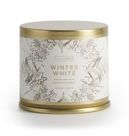 Bougie métal - Winter white - Grande
