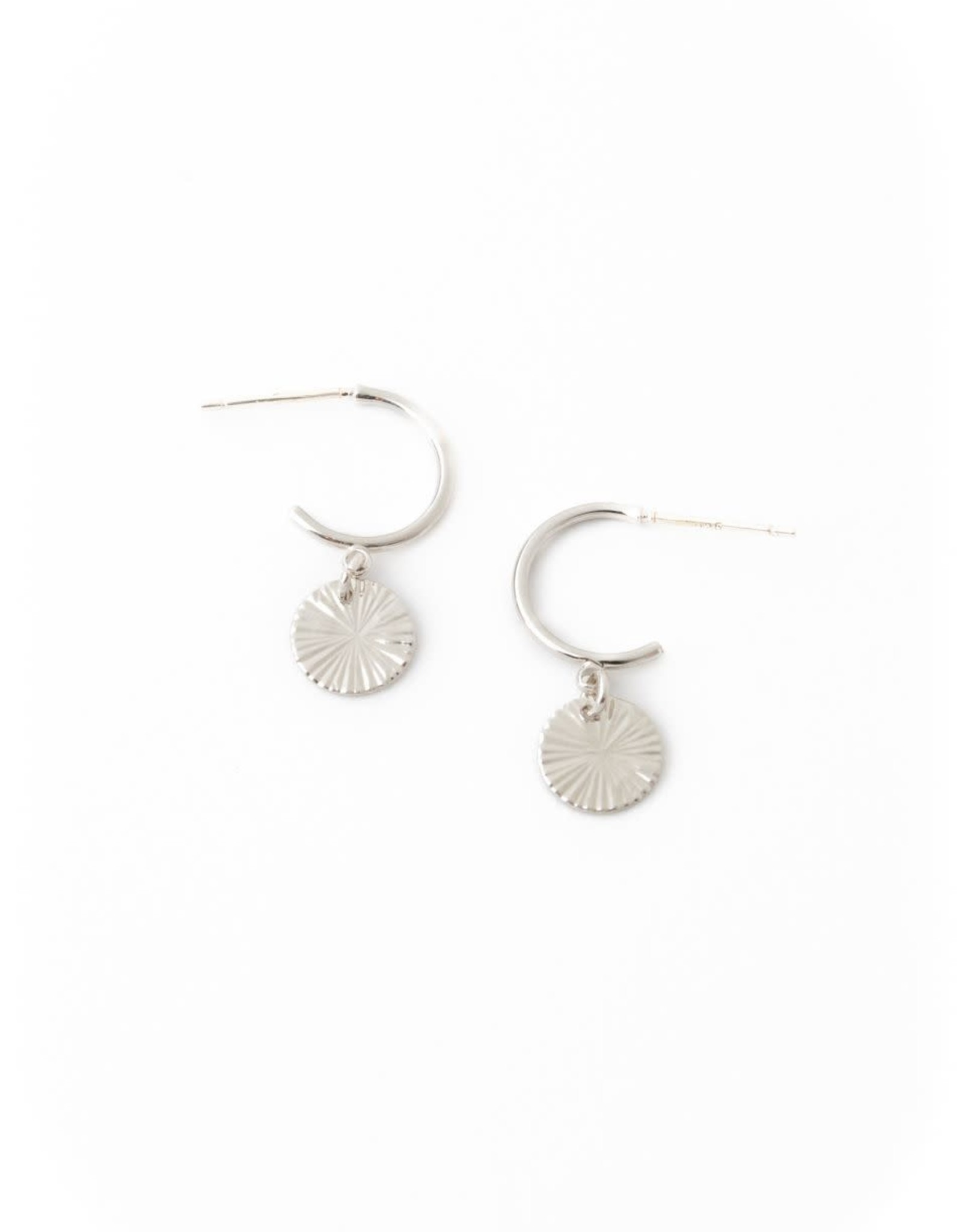 Lover's tempo Anneaux rond EVERLY - Argent