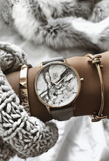 Mvmt Montre BEVERLY - Marbre & cuir gris