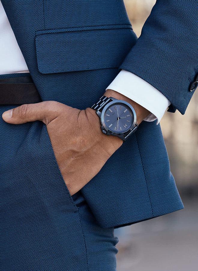 Montre BALTIC BLUE - Acier bleu