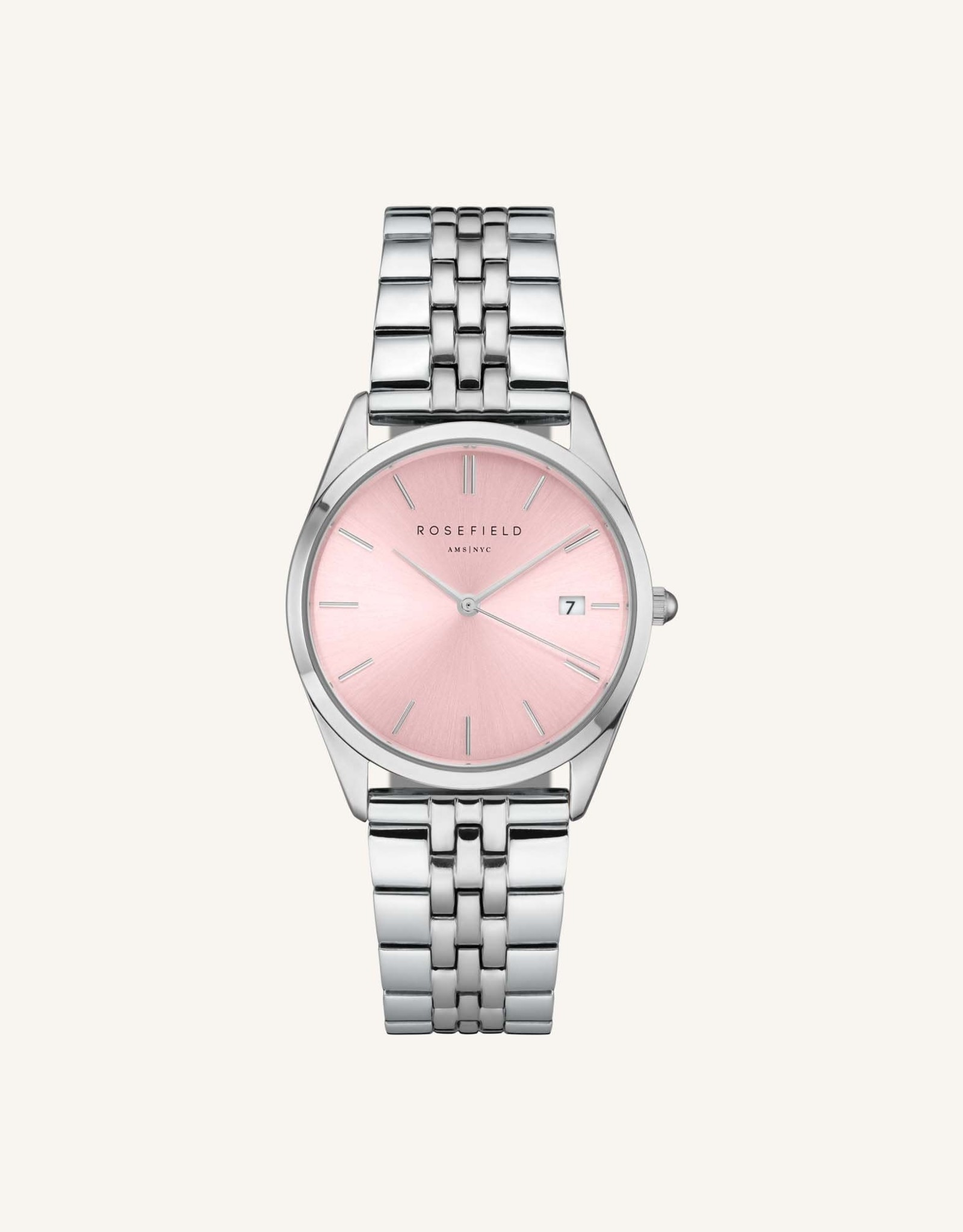 Rosefield Montre THE ACE - Argent & rose