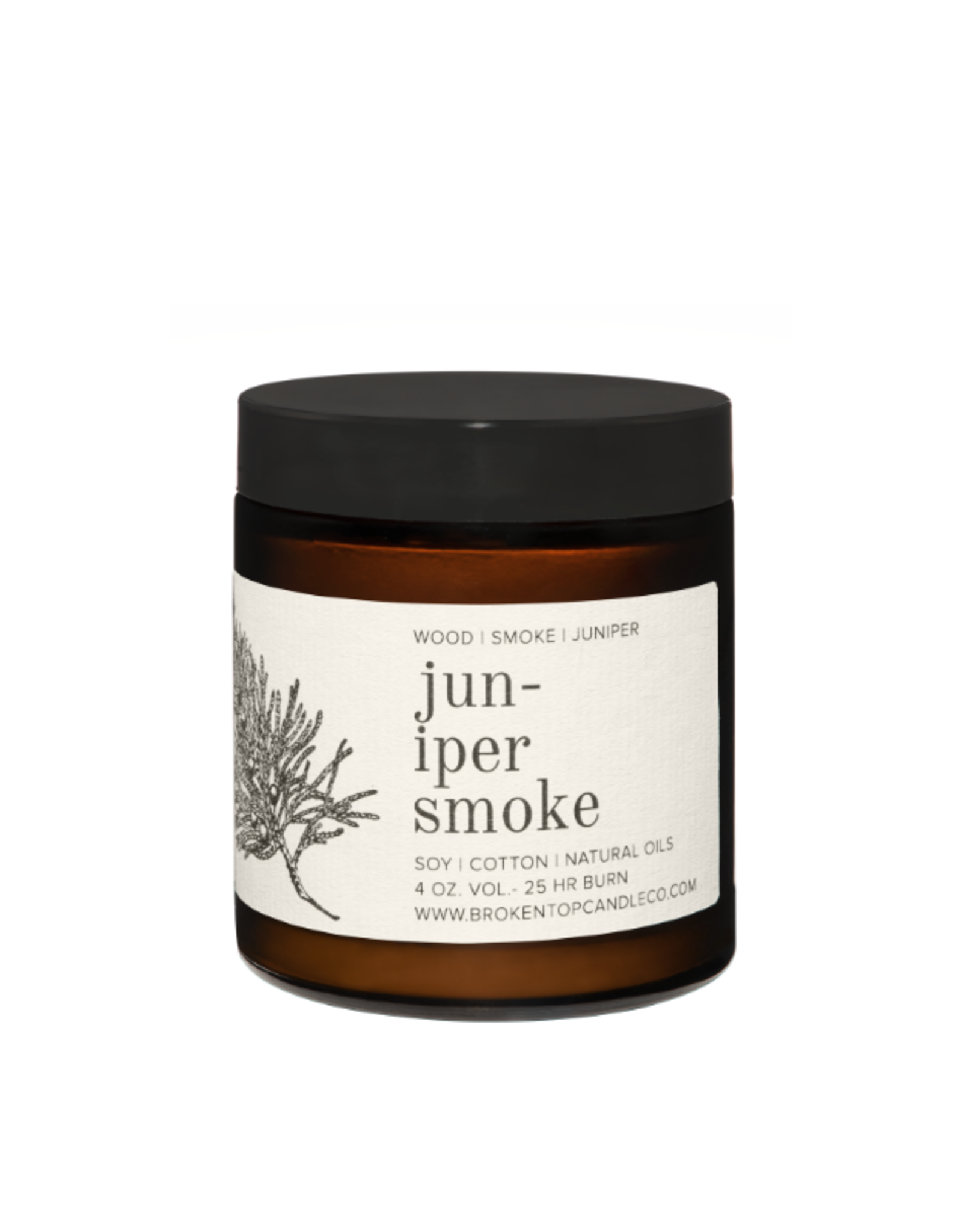Broken Top Candle Bougie -Juniper smoke - 25h