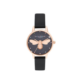 Olivia burton Montre - Rainbow lucky bee - Noir & or rose