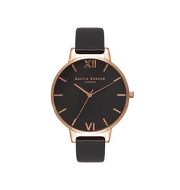 Olivia burton Montre - Big dial - Noir & or rose