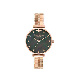 Olivia burton Montre - Queen bee - Or rose et nacre noire