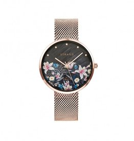 Strand by Obaku Montre Flower - Or rose