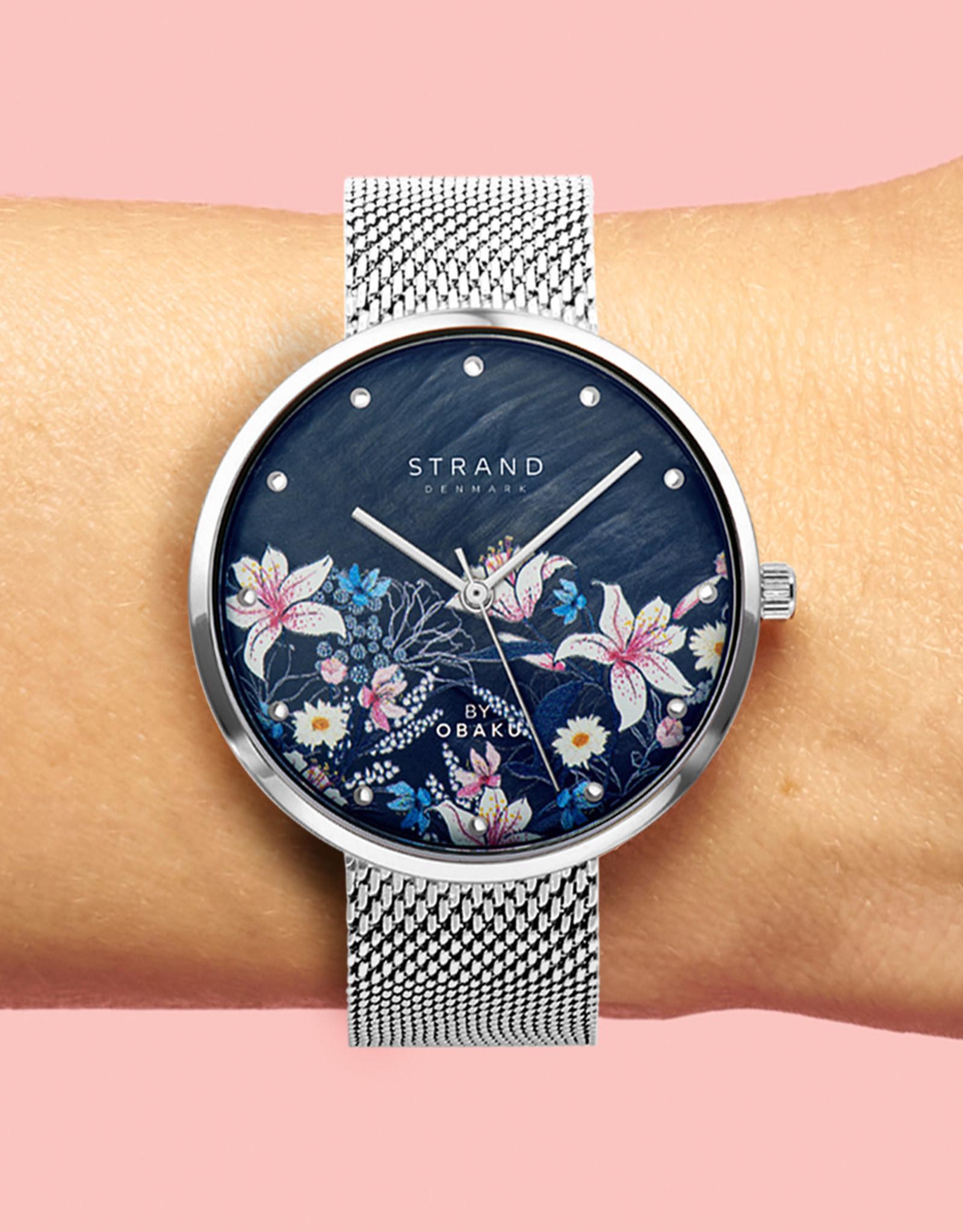 Strand by Obaku Montre Flower - Argent