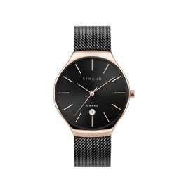 Strand by Obaku Montre Caspian - Noir & or rose