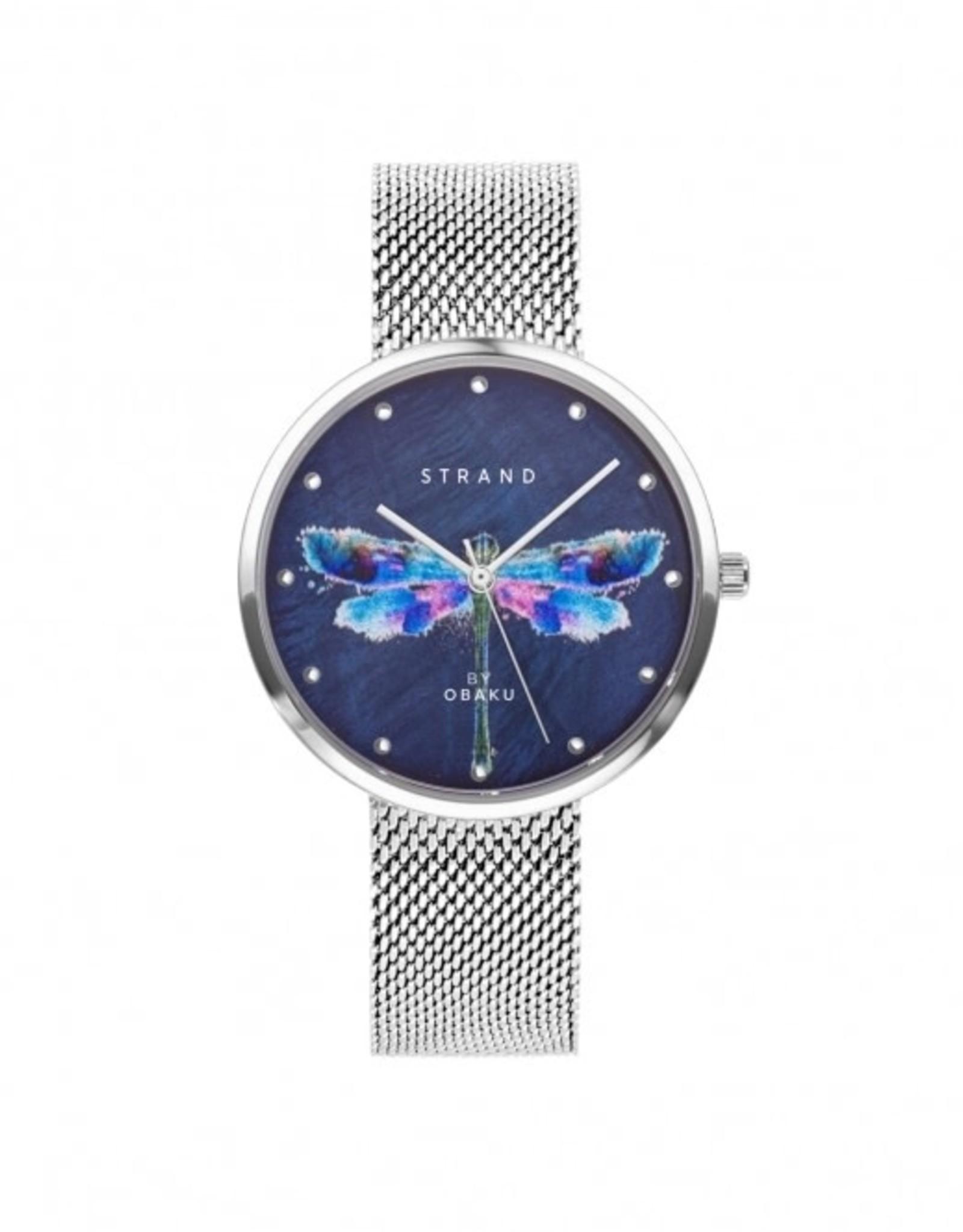 Strand by Obaku Montre Dragonfly - Argent & bleu