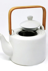 Théière BIA - Grès blanc avec filtre