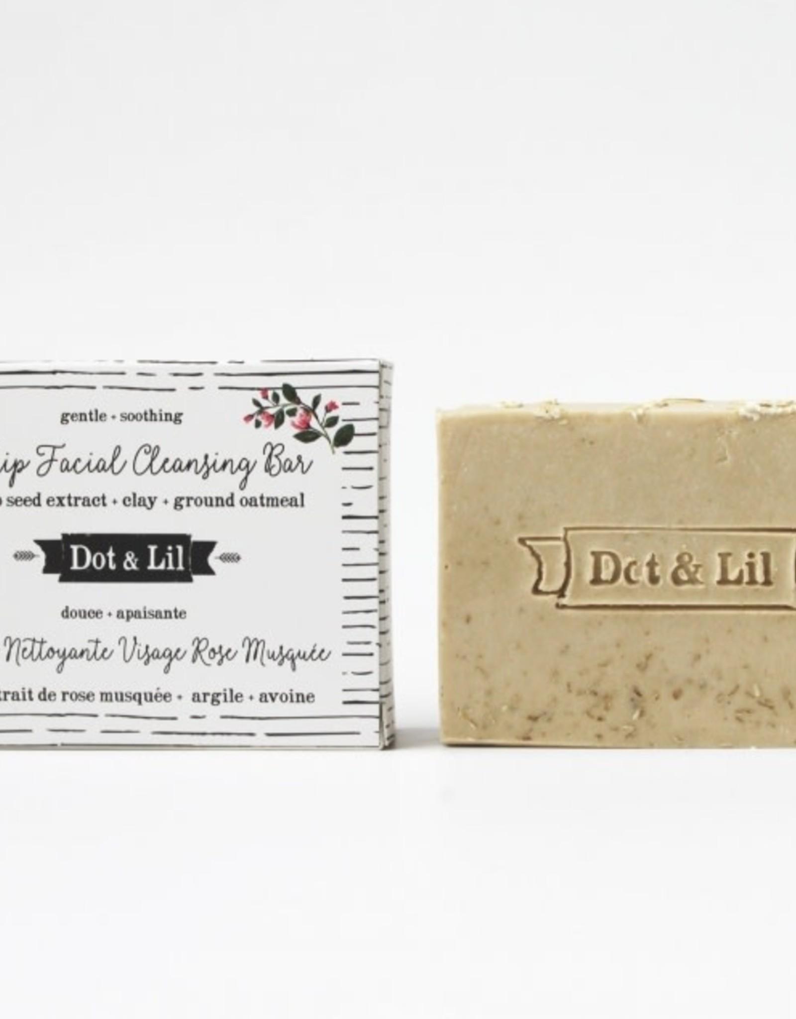 Dot & lil Barre nettoyante visage - Rose musquée