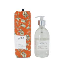 Lucia Savon à mains - Orange verte & Chêne N°4