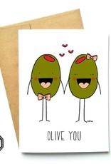 Carte de souhait - Olive you