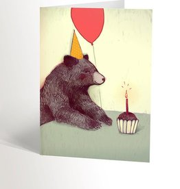 Valérie Boivin Illustration Carte de souhait - Ours de fête