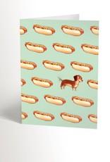 Valérie Boivin Illustration Carte de souhait - Hot dog