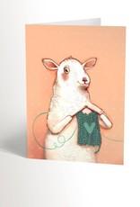 Valérie Boivin Illustration Carte de souhait - Mouton tricot