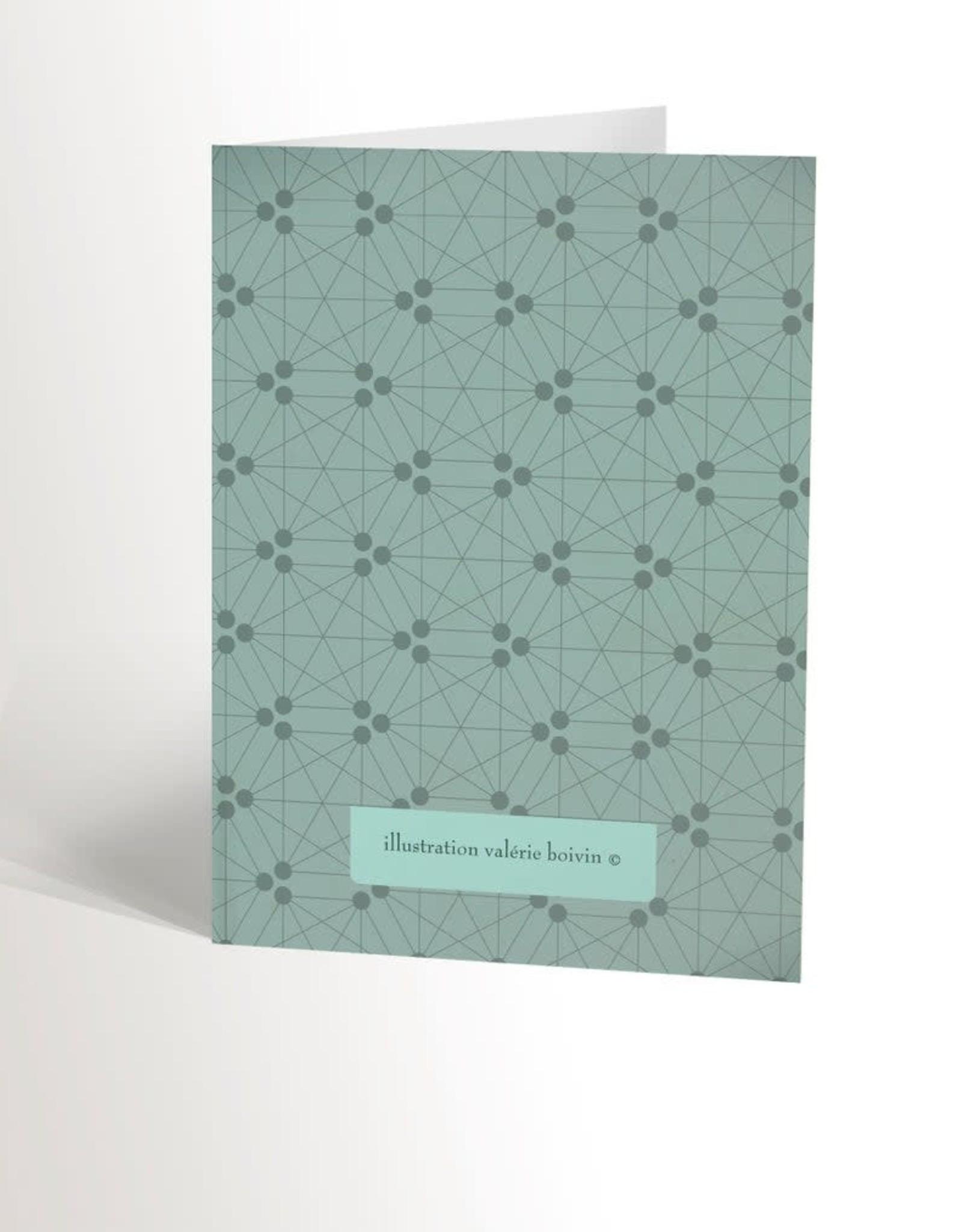 Valérie Boivin Illustration Carte de souhait - Hérisson mignon