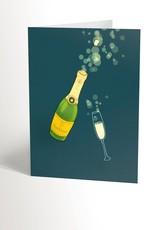 Valérie Boivin Illustration Carte de souhait - Champagne