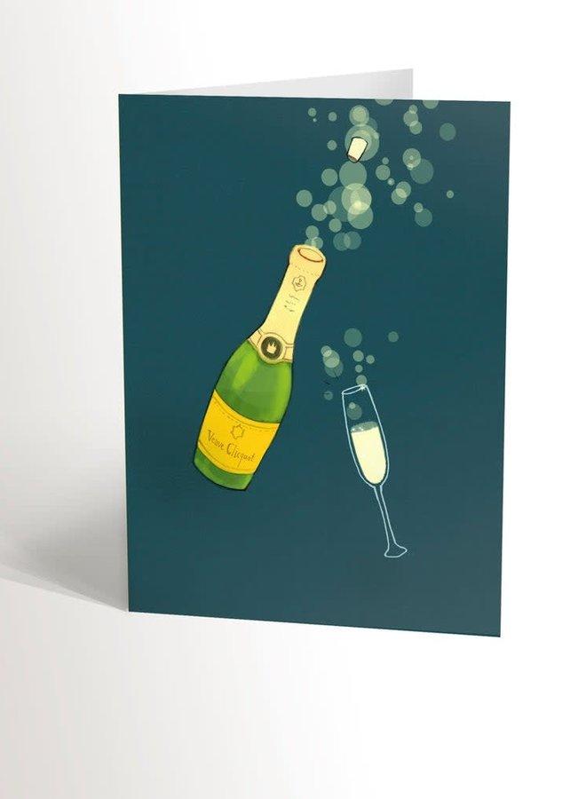 Carte de souhaits - Champagne