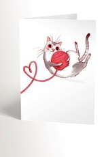 Valérie Boivin Illustration Carte de souhait - Chat merveilleux