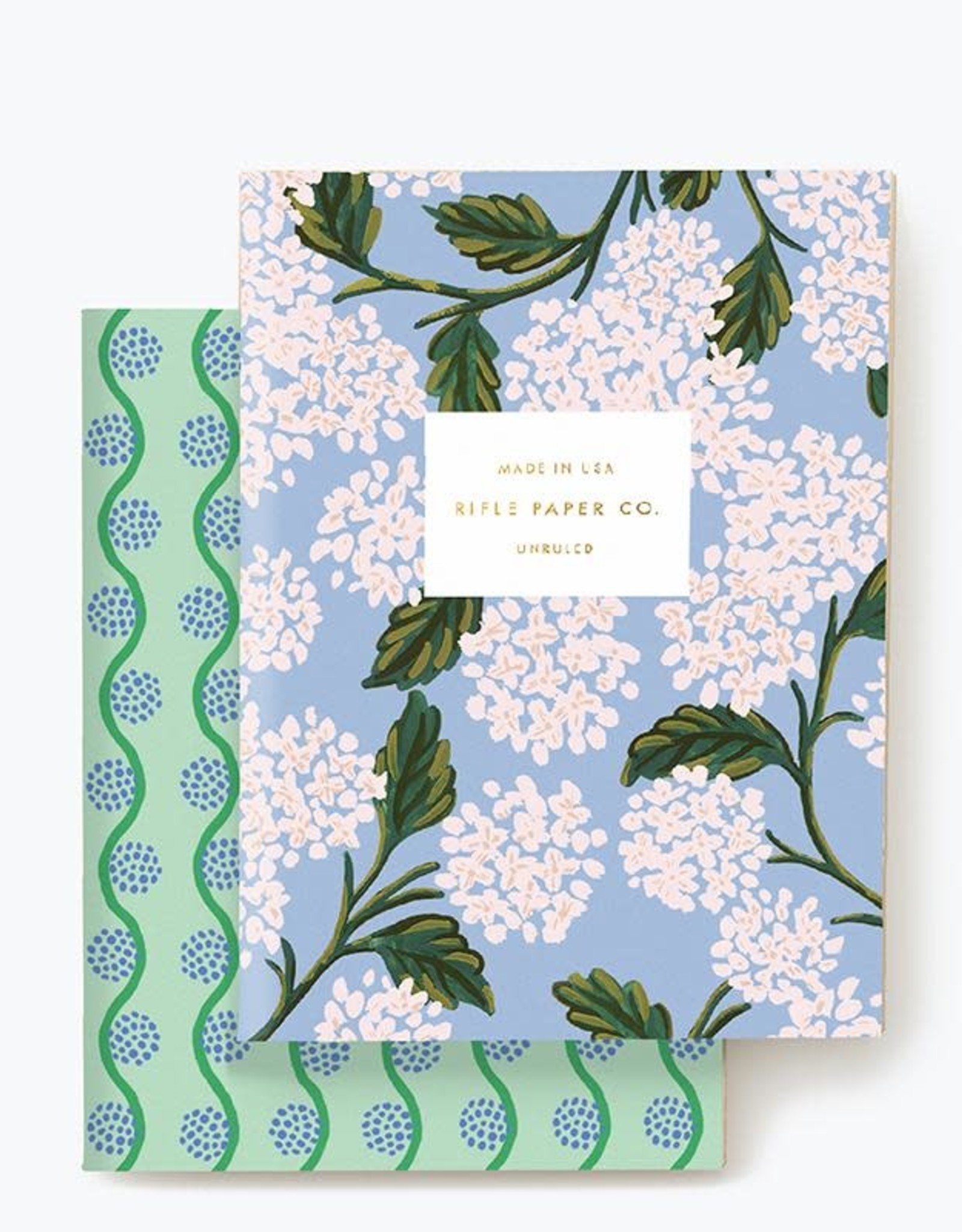 Rifle paper co. Ensemble de 2 carnets - Hydrangea