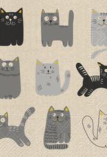 Serviettes de papier - Chats