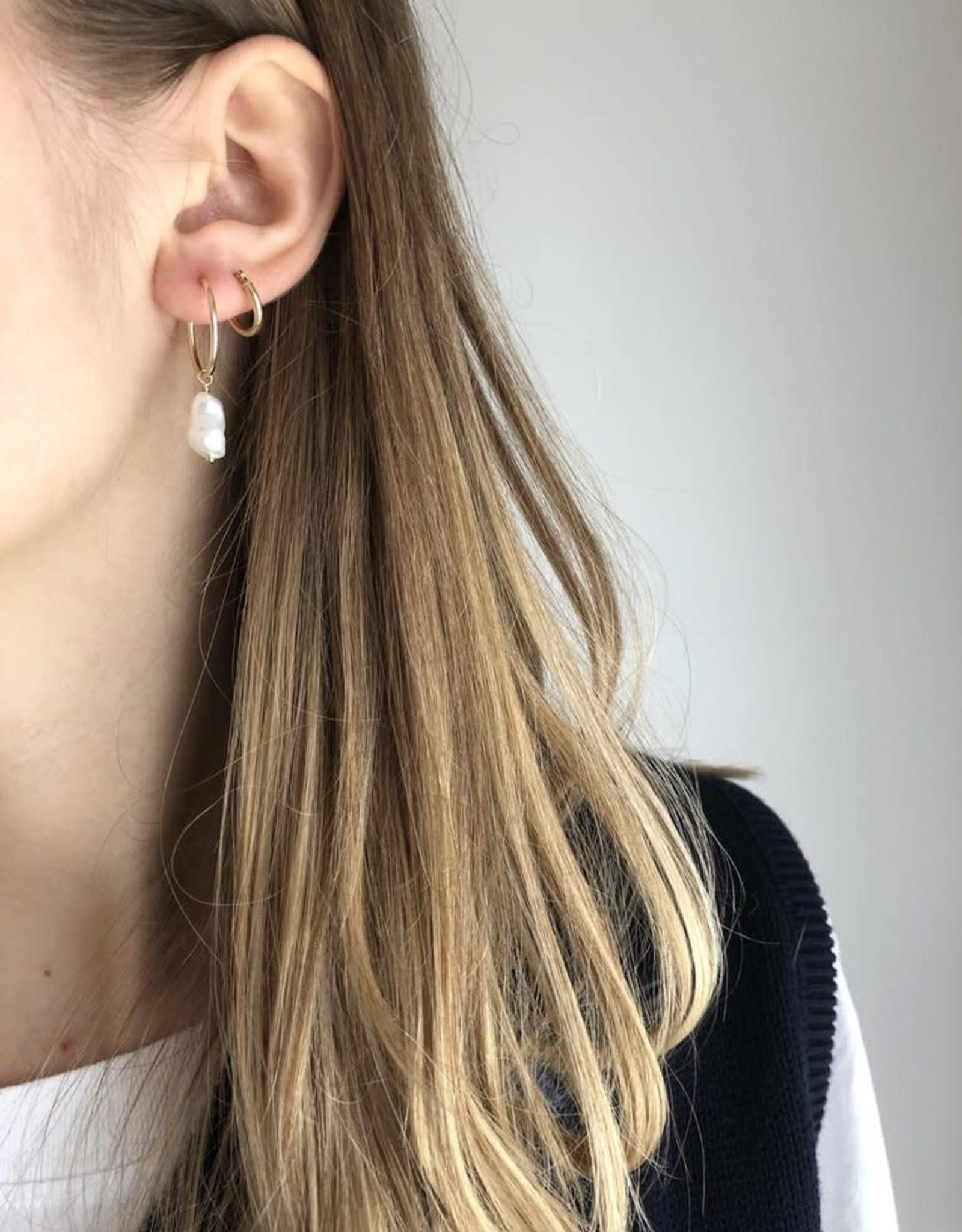 Flora Ciccarelli Anneaux 1.5'' - Perle Biwa