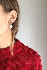 """Flora Ciccarelli Boucles d'oreilles 1"""" - Pastille ronde et perle d'eau douce"""