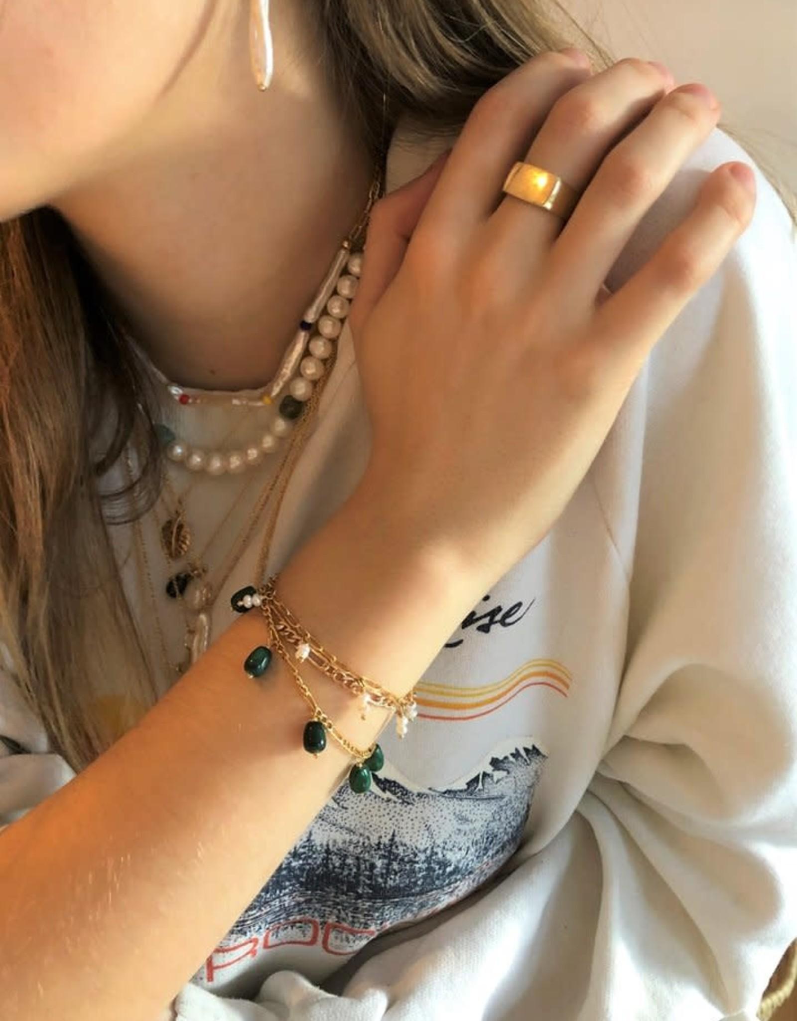 """Flora Ciccarelli Bracelet 6"""" - Malachite"""