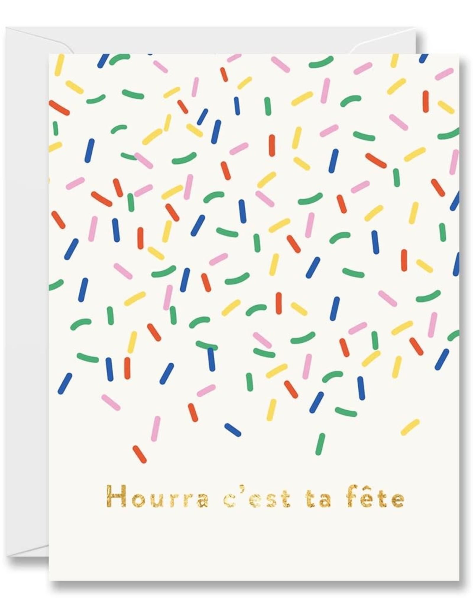 Carte de souhait - Confetti