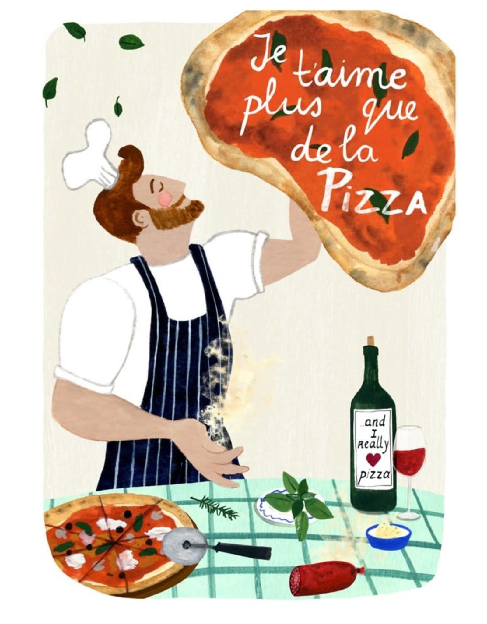 Carte de souhait - Pizza