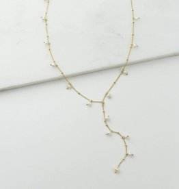 Lover's tempo Collier lariat Dot Pearl - Plaqué or