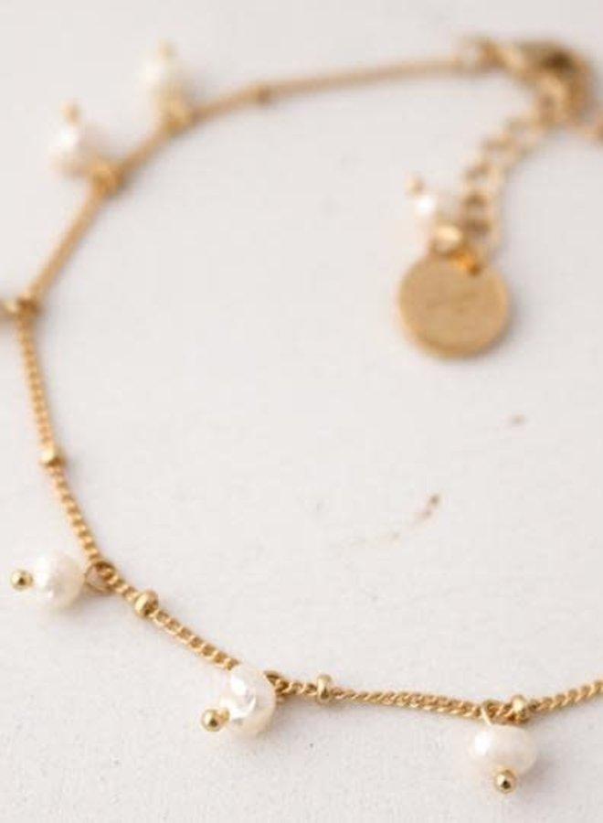 Bracelet - Dot Pearl - Plaqué or
