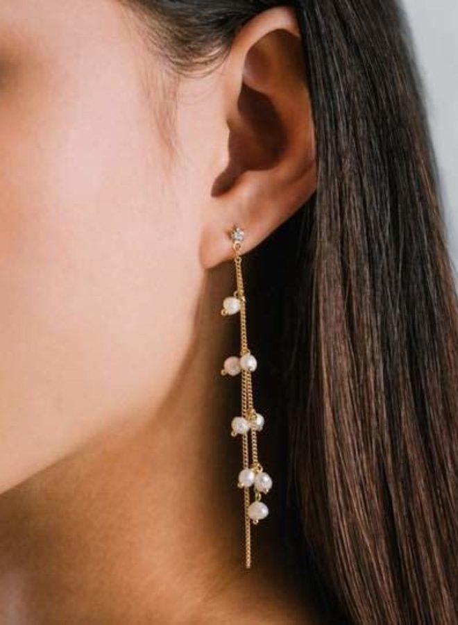 Boucles d'oreilles - Dot Pearl - Plaqué or