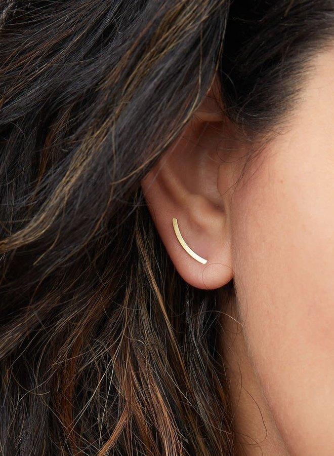 Boucles d'oreilles - Comet Curves - Argent