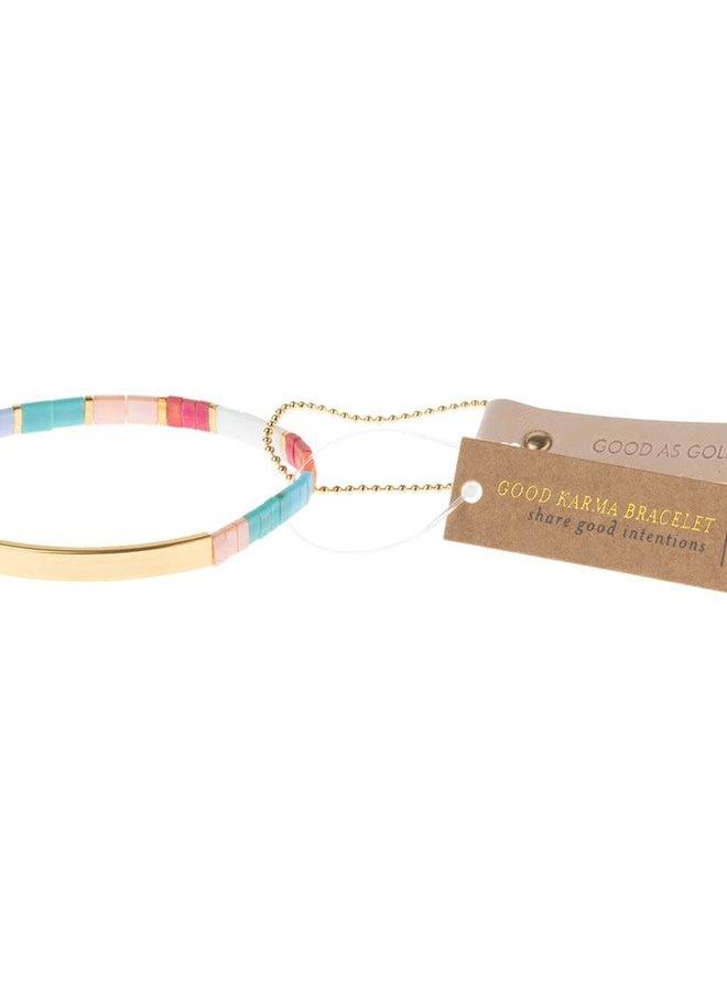 Bracelet Miyuki - Good as gold - Aqua