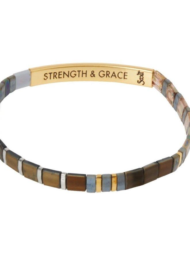 Bracelet Miyuki - Strength & Grace - Gunmetal