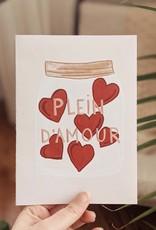 Mimi & August Carte de souhaits -  Plein d'amour