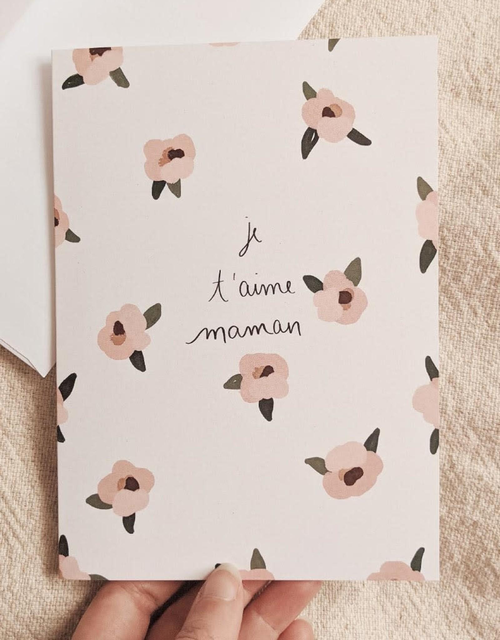Mimi & August Carte de souhaits  florale -  Je t'aime maman