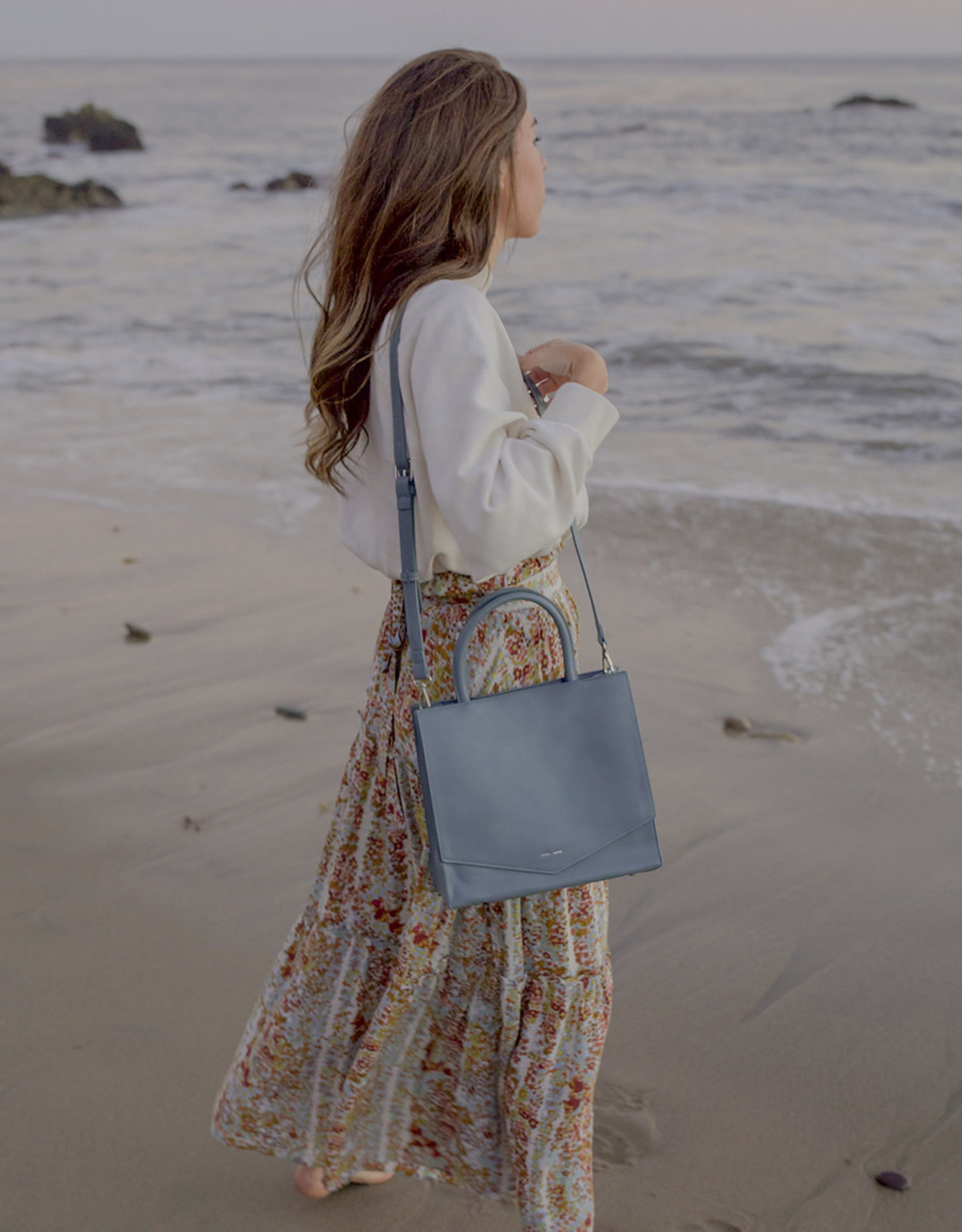 Pixie Mood Sac bandoulière Caitlin - Bleu minéral - Petit