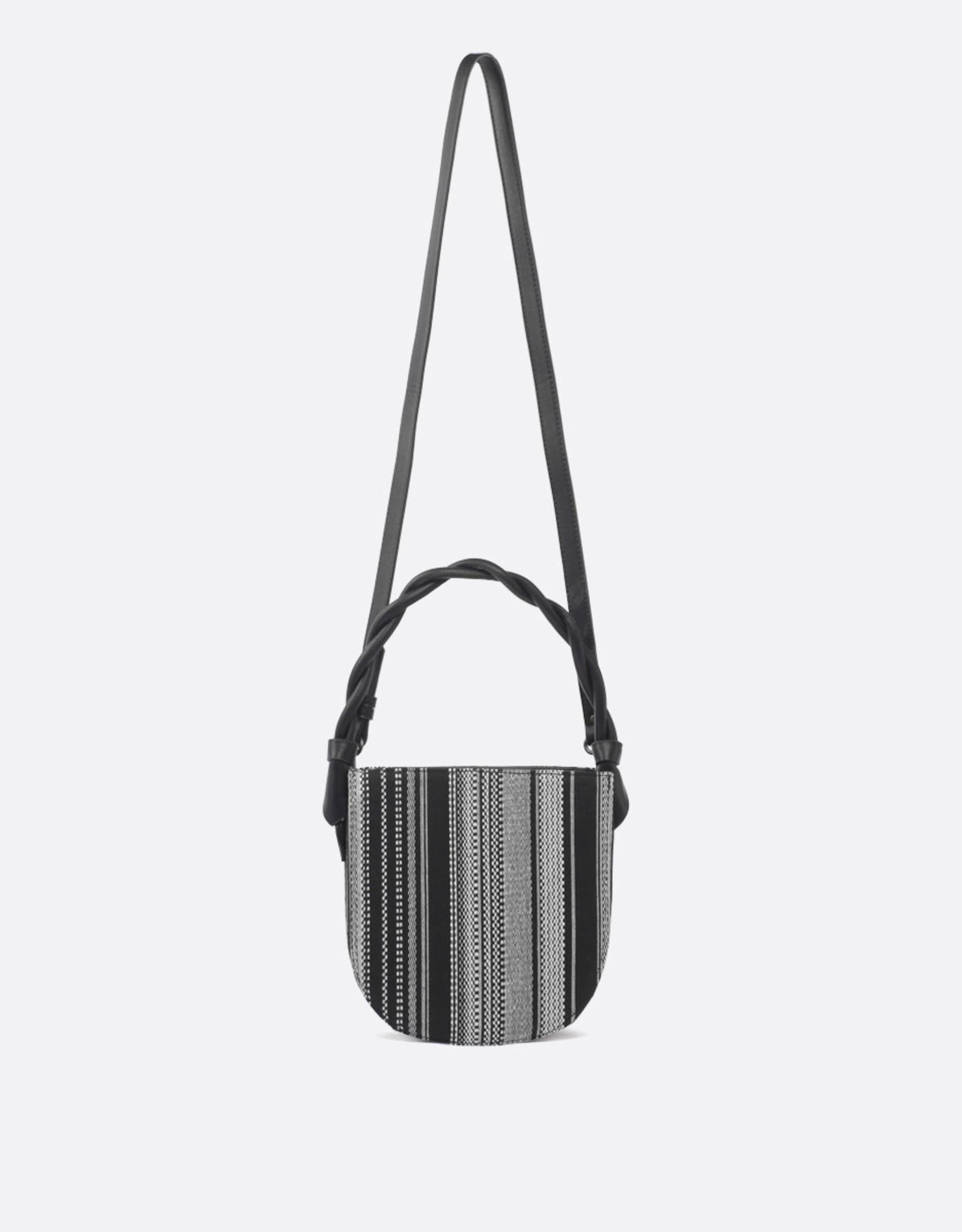 Pixie Mood Sac bandoulière Tinsley - Tissé noir et blanc