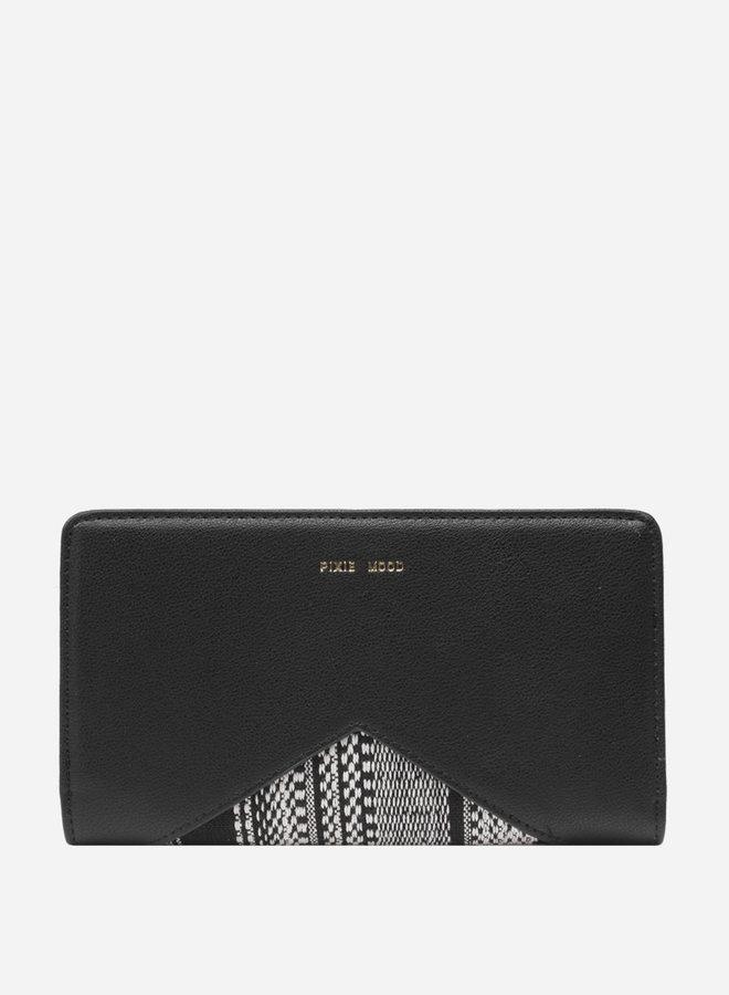 Portefeuille Sophie - Tissé noir et blanc