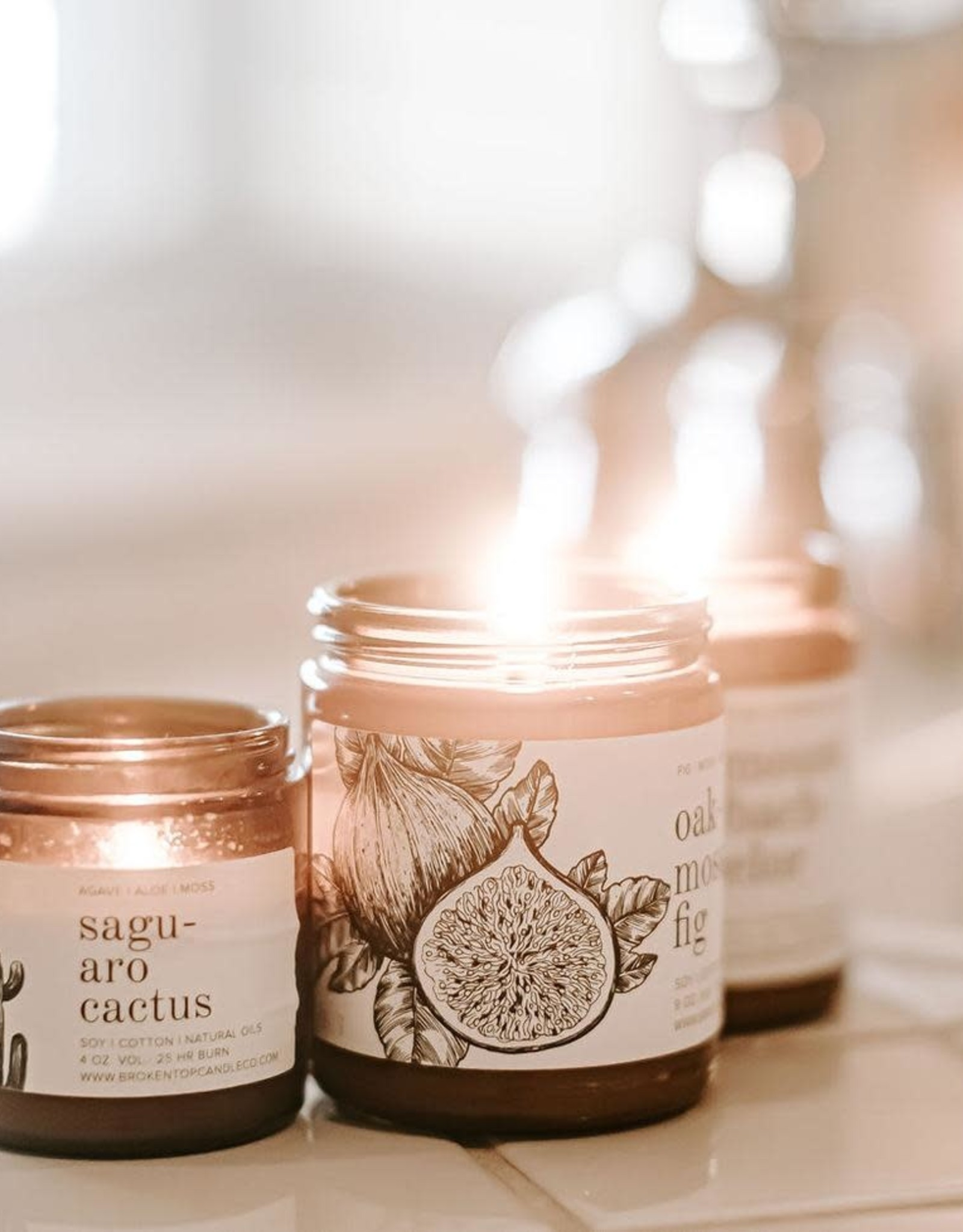 Broken Top Candle Bougie - Saguaro cactus - 25h